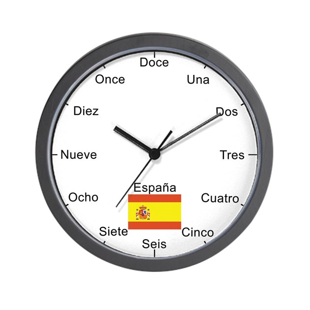 Spanish Language Wall Clock By Eclectical