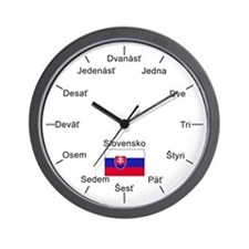 Slovak Language Wall Clock