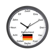 German Language Wall Clock
