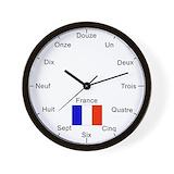 French flag Wall Clocks