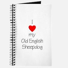 I Love My Old English Sheepdog Journal