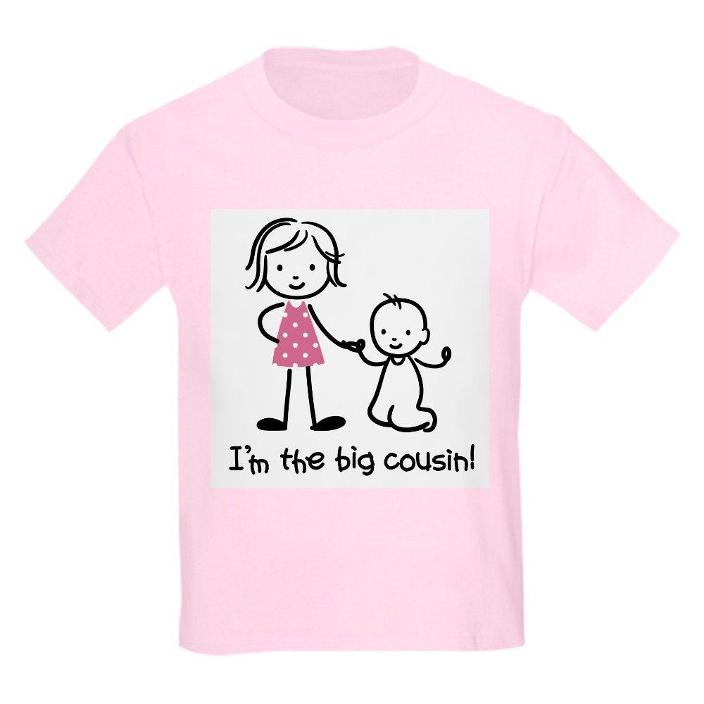 735064958 CafePress Big Cousin Stick Characters T Shirt Kids Light T-Shirt