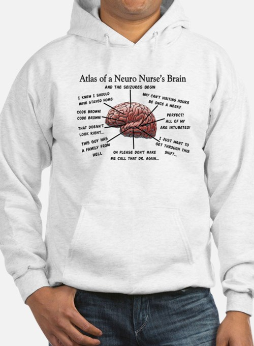 Atlas of a Neuro Nursess Brain.PNG Hoodie