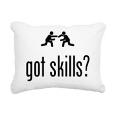 Wrestling Rectangular Canvas Pillow