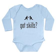 Wrestling Long Sleeve Infant Bodysuit