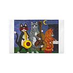Jazz Cats 3'x5' Area Rug