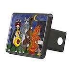 Jazz Cats Rectangular Hitch Cover