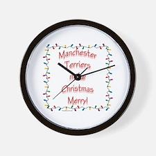 Merry Manchester Wall Clock