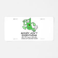 Money Aluminum License Plate