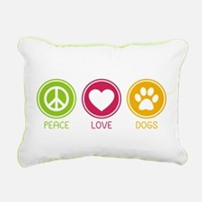 Peace - Love - Dogs 1 Rectangular Canvas Pillow