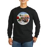 Treat - 4 Cavaliers Long Sleeve Dark T-Shirt