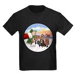 Treat - 4 Cavaliers Kids Dark T-Shirt