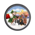 Treat - 4 Cavaliers Wall Clock