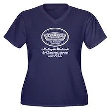 The Pentagon Women's Plus Size V-Neck Dark T-Shirt