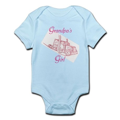 Grandpa's Girl Big Truck Infant Bodysuit