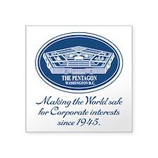 """The Pentagon Square Sticker 3"""" x 3"""""""