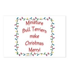 Merry Mini Bull Postcards (Package of 8)