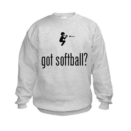 Softball Catcher Kids Sweatshirt