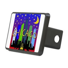 Chicago Skyline nightlife Hitch Cover