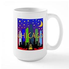 Chicago Skyline nightlife Mug