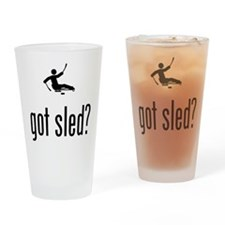 Sled Hockey Drinking Glass