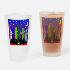 Chicago Skyline nightlife Drinking Glass