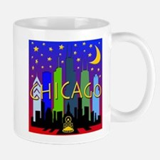 Chicago Skyline nightlife Mug