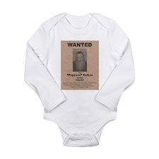 Popcorn Sutton Wanted Poster Long Sleeve Infant Bo