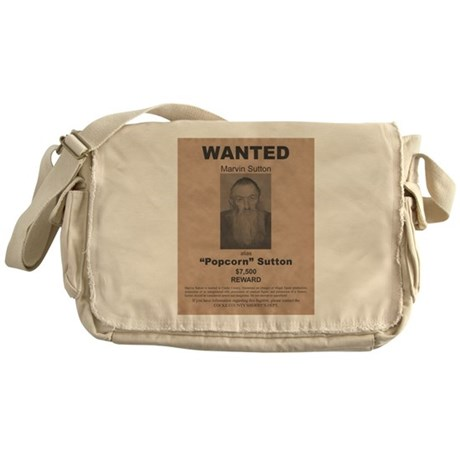 Popcorn Sutton Wanted Poster Messenger Bag
