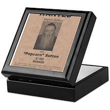 Popcorn Sutton Wanted Poster Keepsake Box