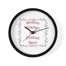 Merry MinPin Wall Clock