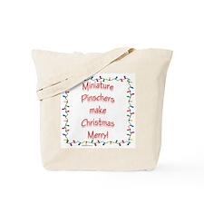 Merry MinPin Tote Bag