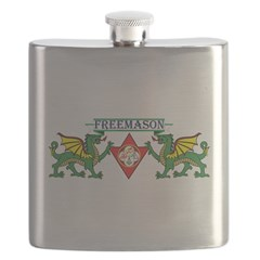 York Rite Freemason Flask