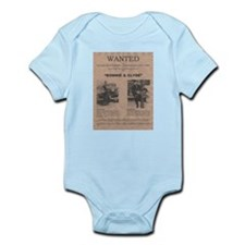 Bonnie and Clyde Wanted Poster Infant Bodysuit