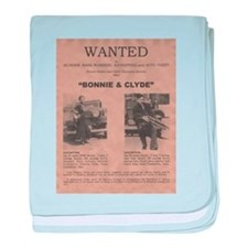 Bonnie and Clyde Wanted Poster baby blanket