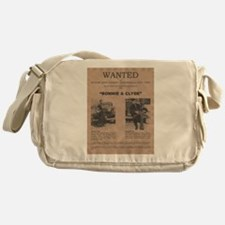 Bonnie and Clyde Wanted Poster Messenger Bag