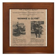 Bonnie and Clyde Wanted Poster Framed Tile