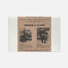 Bonnie and Clyde Wanted Poster Rectangle Magnet