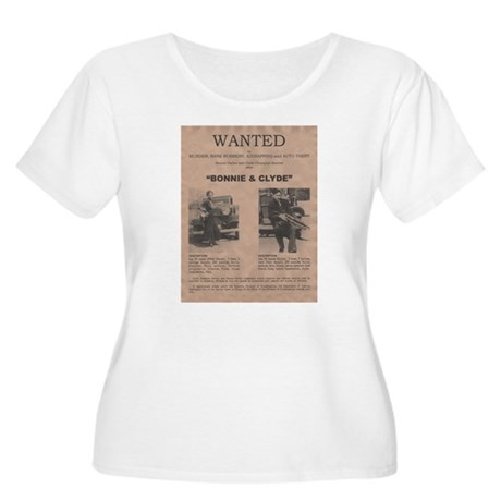 Bonnie and Clyde Wanted Poster Women's Plus Size S