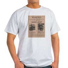 Bonnie and Clyde Wanted Poster T-Shirt