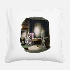 1st Edition Scrooge & Marley Canvas Pillow