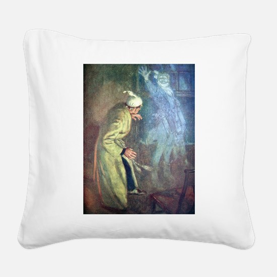 Scrooge & Marley's Ghost Canvas Pillow
