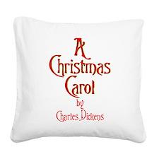 Christmas Carol Logo Canvas Pillow