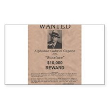 Al Capone Wanted Poster Bumper Stickers