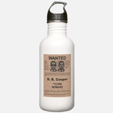 DB Cooper Wanted Poster Water Bottle
