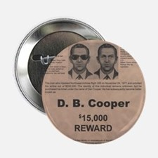 """DB Cooper Wanted Poster 2.25"""" Button"""