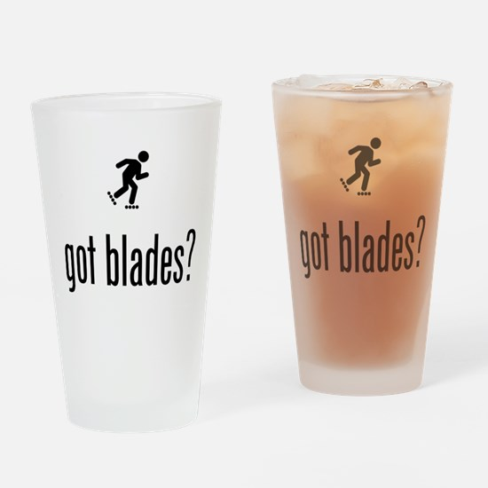 Roller Blading Drinking Glass