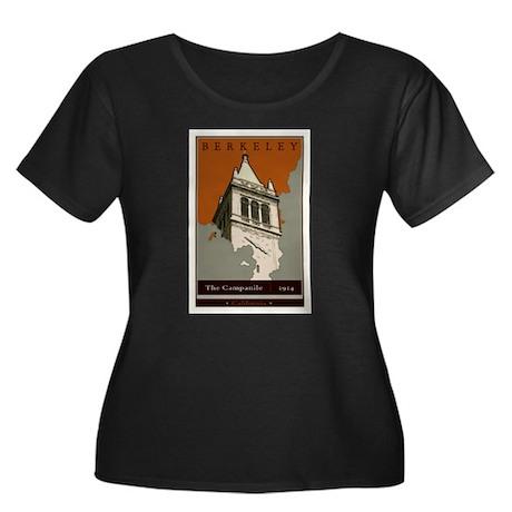 Berkeley Women's Plus Size Scoop Neck Dark T-Shirt