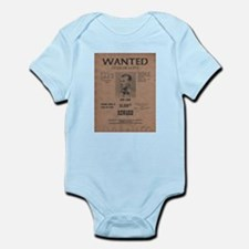 Jesse James Wanted Poster Infant Bodysuit