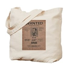 Jesse James Wanted Poster Tote Bag